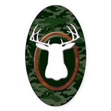 TROPHY BUCK Oval Decal