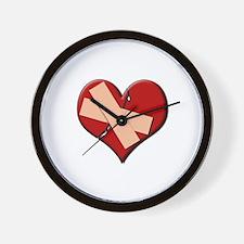 Band Aid Heart Wall Clock