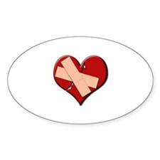 Band Aid Heart Oval Decal
