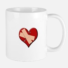 Band Aid Heart Mug