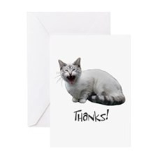 Meowing Cat Thanks Greeting Card