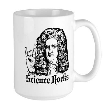 Isaac Newton Science Rocks Large Mug