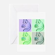 Panda Bear Pop Art Greeting Card