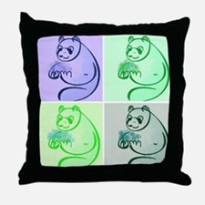 Panda Bear Pop Art Throw Pillow