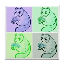 Panda Bear Pop Art Tile Coaster