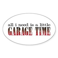 Garage Time Oval Decal