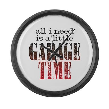 Garage Time Large Wall Clock