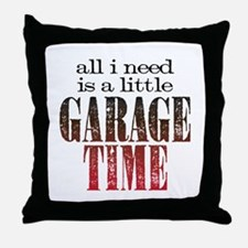 Garage Time Throw Pillow