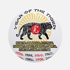 Year of the Tiger Qualities Ornament (Round)