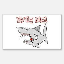 BIte Me Shark Rectangle Decal