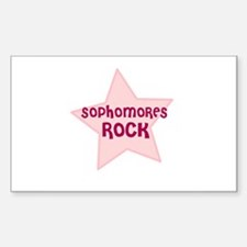Sophomores Rock Rectangle Decal