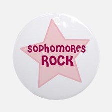 Sophomores Rock Ornament (Round)