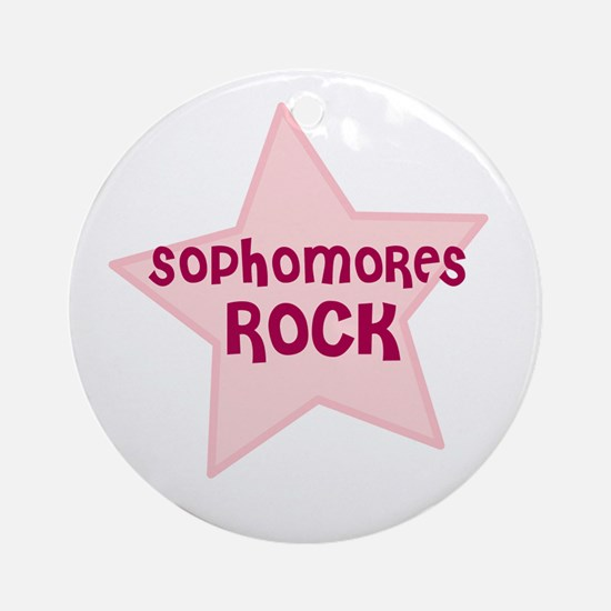 Sophomores Rock Ornament (Round)
