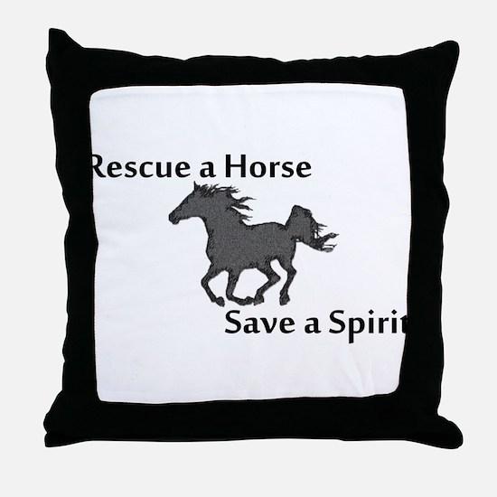 Rescue a Horse Throw Pillow