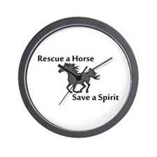 Rescue a Horse Wall Clock