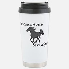 Rescue a Horse Stainless Steel Travel Mug