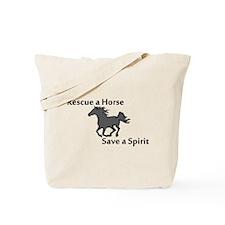 Rescue a Horse Tote Bag