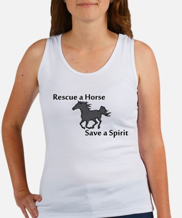 Rescue a Horse Women's Tank Top
