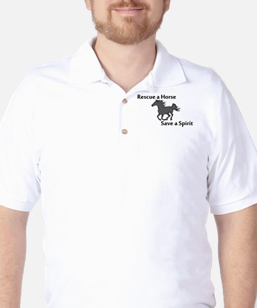 Rescue a Horse Golf Shirt