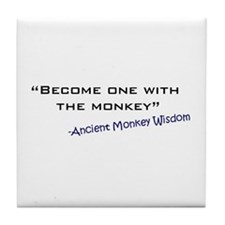 Monkey Wisdom Tile Coaster