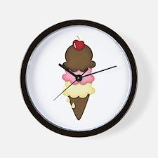 yummy icecream Wall Clock