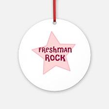 Freshman Rock Ornament (Round)