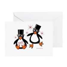 New Year Penguins Greeting Cards (Pk of 10)