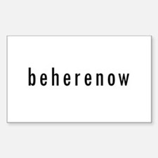 BeHereNow Rectangle Decal