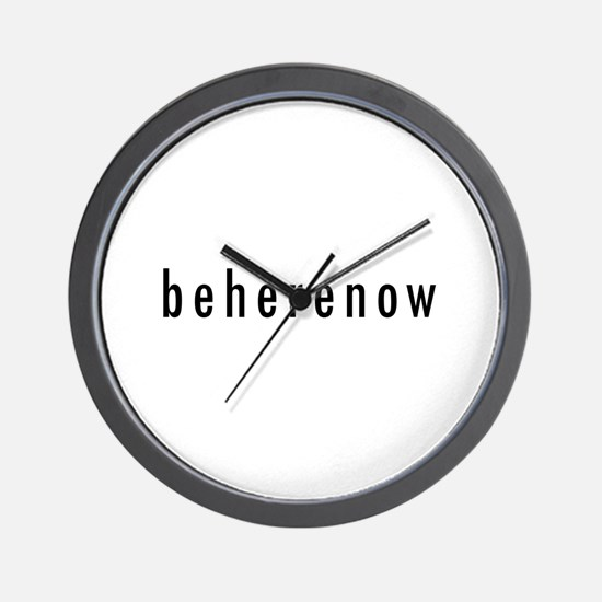 BeHereNow Wall Clock