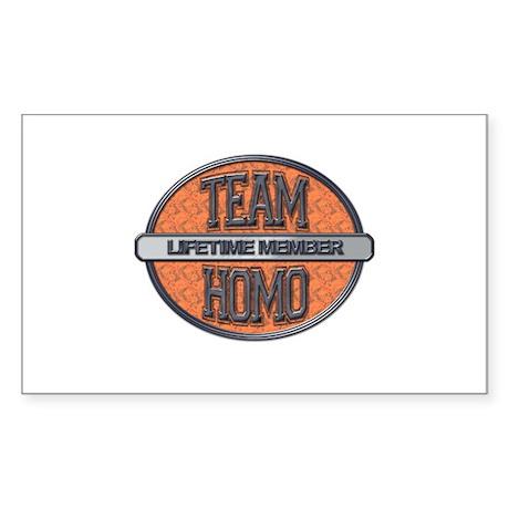 Team Homo Lifetime Sticker (Rectangle)