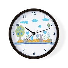 Blue baby design Wall Clock