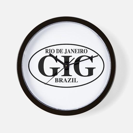 GIG Rio de Janeiro Wall Clock
