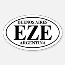 EZE Buenos Aires Oval Decal