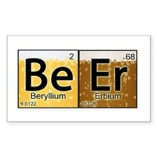 The Element of Beer Rectangle Bumper Stickers