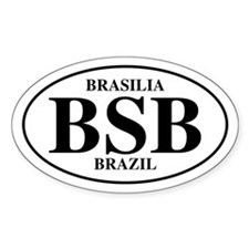 BSB Brasilia Oval Decal