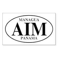 AIM Managua Rectangle Decal