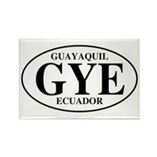 GYE Guayaquil Rectangle Magnet