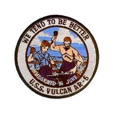 """USS VULCAN 3.5"""" Button"""
