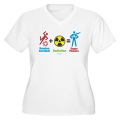 Super Powers Women's Plus Size V-Neck T-Shirt