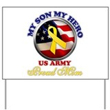 Proud army mom Yard Signs