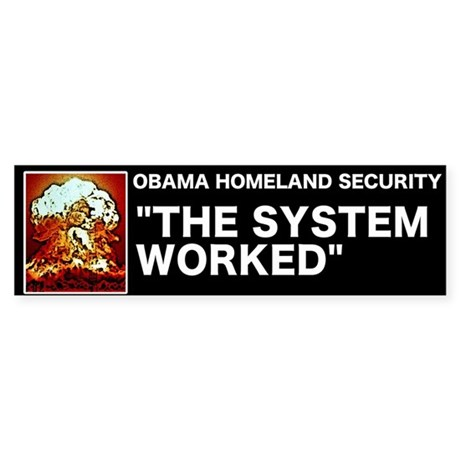 Obama Homeland Security Bumper Sticker