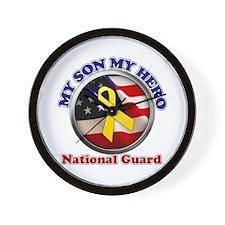 Cute National guard dad Wall Clock