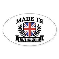 Made In Liverpool Oval Decal