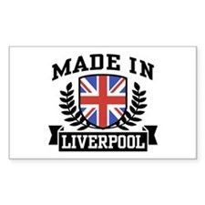 Made In Liverpool Rectangle Decal