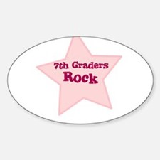 7th Graders Rock Oval Decal