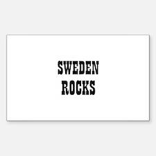 SWEDEN ROCKS Rectangle Decal
