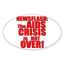 AIDS Crisis Oval Decal