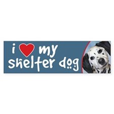 I Love My Shelter Dog bumper sticker - dalmatian