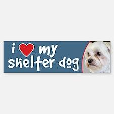 I Love My Shelter Dog - Maltese Bumper Bumper Bumper Sticker