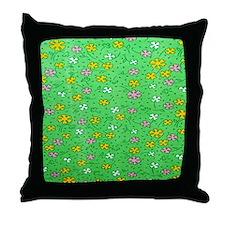 Green flowers Pillow